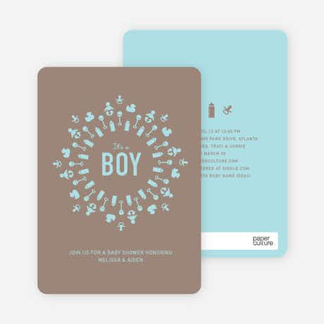 baby icon burst baby shower invitations paper culture