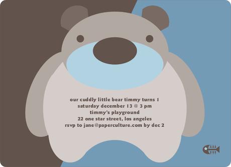 Cuddly Bear Birthday Party Invitations – Playground Birthday Invitations