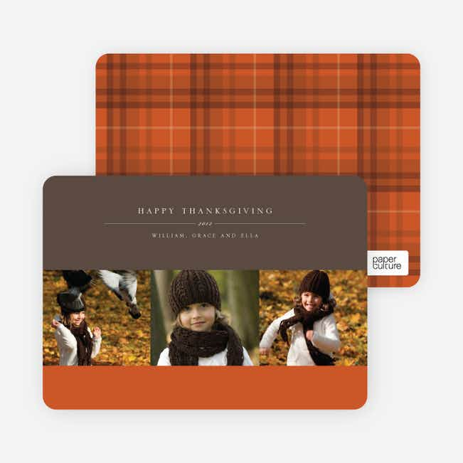 3 Photo Thanksgiving Photo Cards - Saffron
