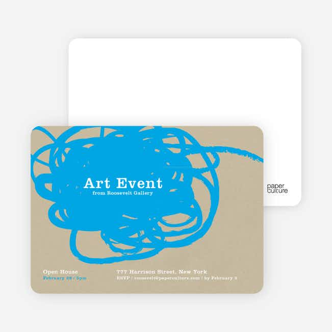 Abstract Brush Invitations - Deep Sky