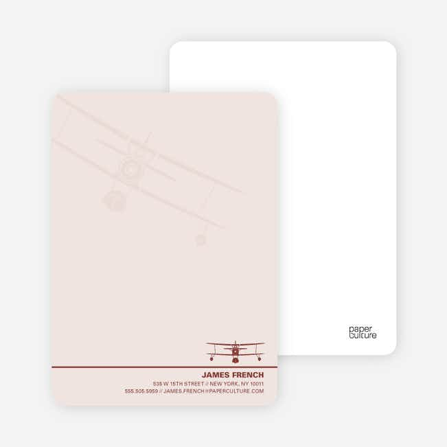 Aviator Custom Stationery for Airplane Fanatics - Blush