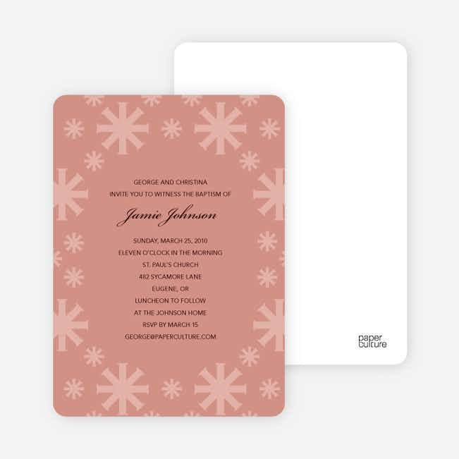 Baptism Invitations: Crossing Crosses - Pink