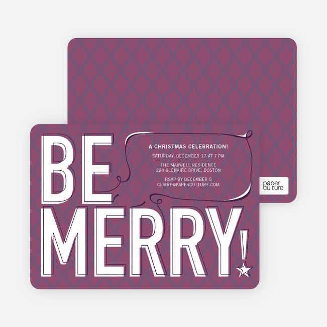 Be Merry! Holiday Invitations - Mulled Wine