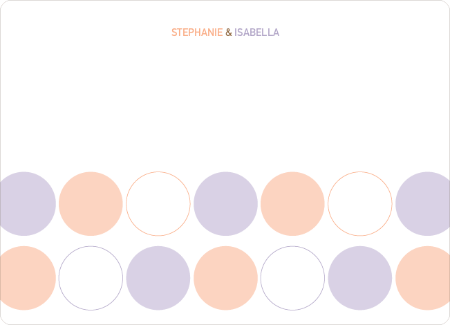 Stationery: 'Modern Twin Announcements' cards. - Orange Sherbet