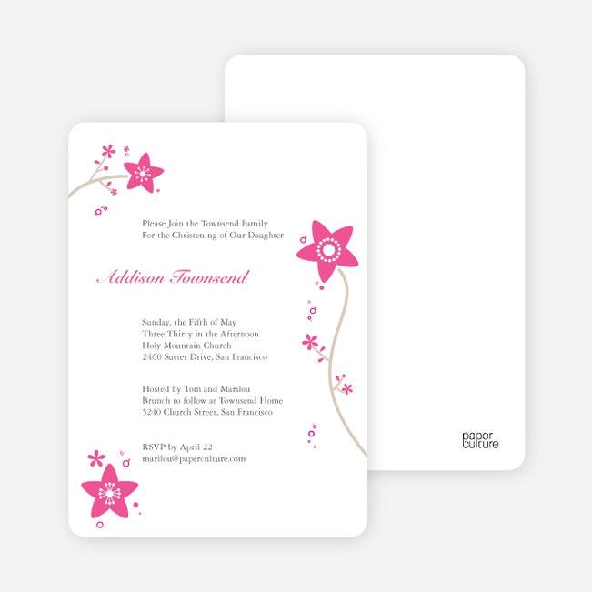Floral Baptism Invitations Paper Culture