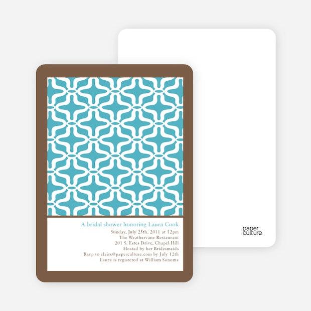 Geo pattern bridal shower invitations paper culture filmwisefo Gallery
