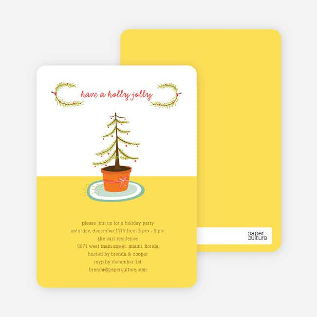 Have a Holly Jolly Holiday Invitations - Sungold