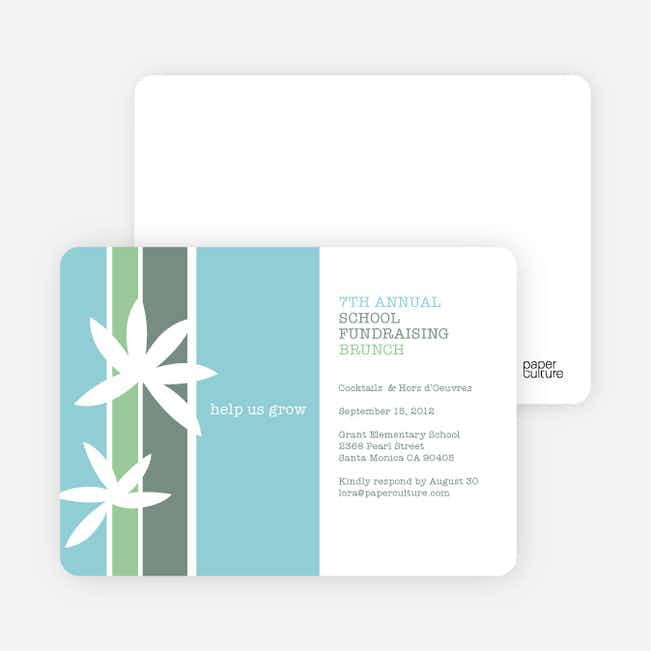 Help Us Grow Children's Fundraiser Invitations - Powder Blue