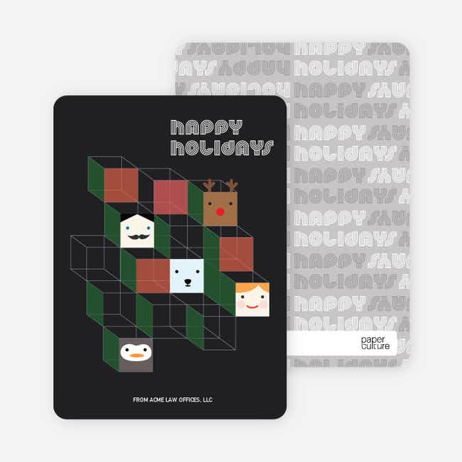 Hip to be Square Holiday Cards - Black