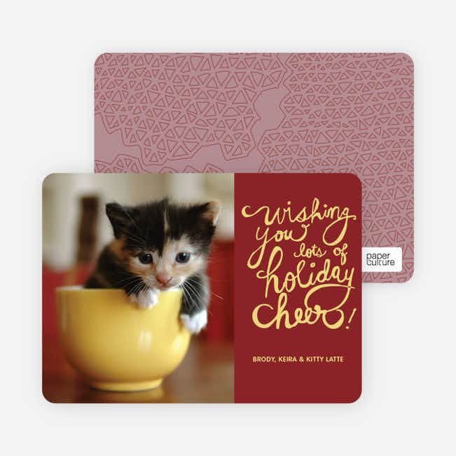 Holiday Cheer Holiday Photo Cards - Lemon Yellow