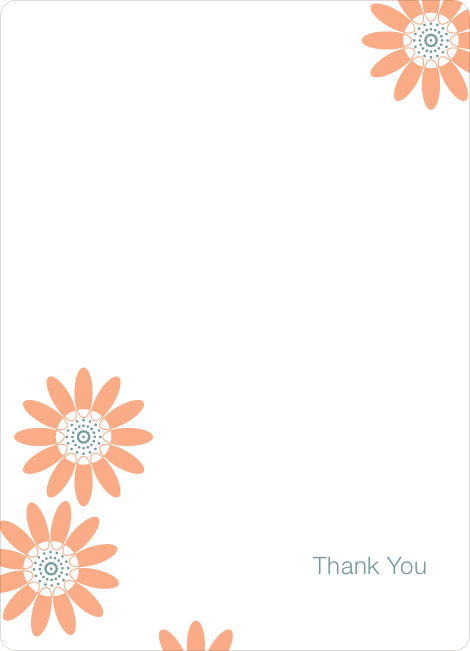Notecards for the 'Spring Showers, May Flowers' cards. - Apricot