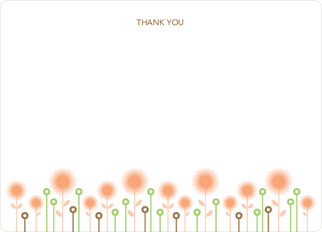 Notecards for the 'Spirograph Flowers' cards. - Apricot