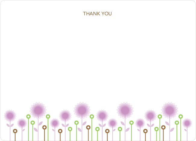 Notecards for the 'Spirograph Flowers' cards. - Lavender
