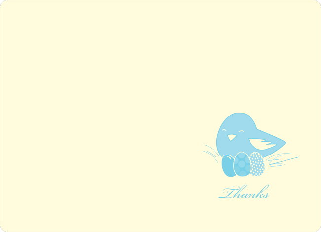 Notecards for the 'Nesting Mother Invitations' cards. - Baby Blue