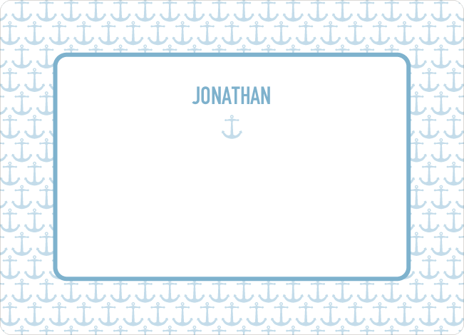 Personal Stationery for Sailor Birth Announcement - Cadet Blue