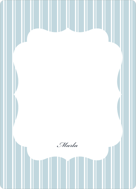 Personal Stationery for Baby Pin Shower Invitation - Powder Blue