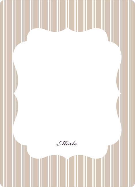 Personal Stationery for Baby Pin Shower Invitation - Beige