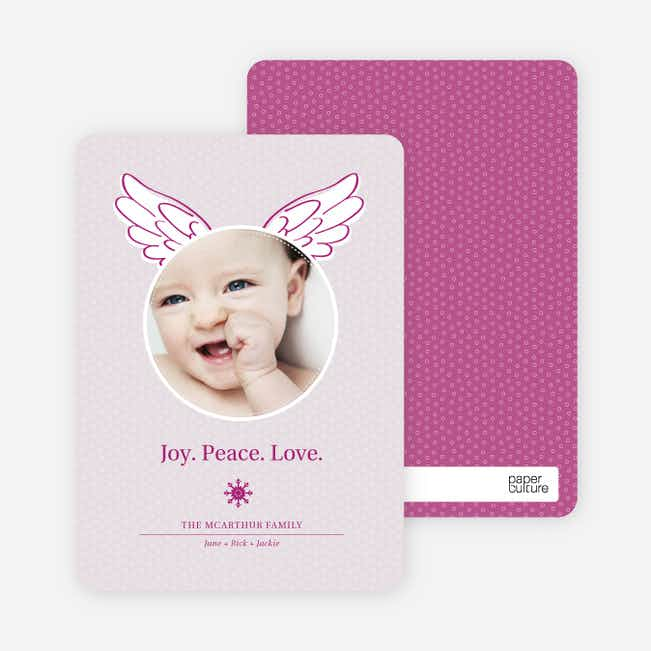Little Angel Holiday Photo Cards - Magenta