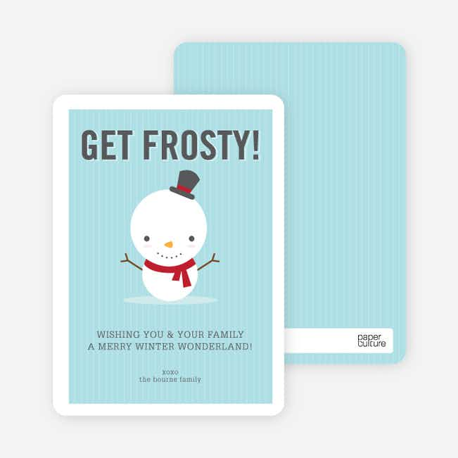 Little Frosty Holiday Cards - Crimson