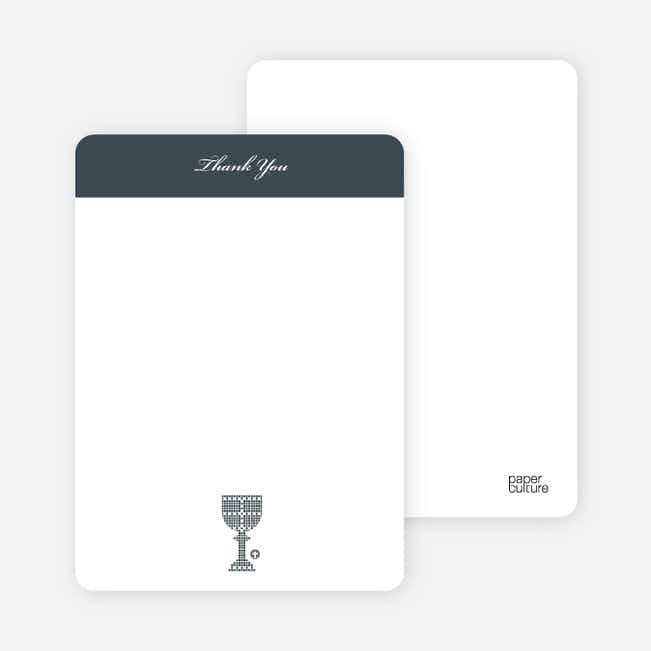 Note Cards: 'First Sacrament – Chalice' cards. - White