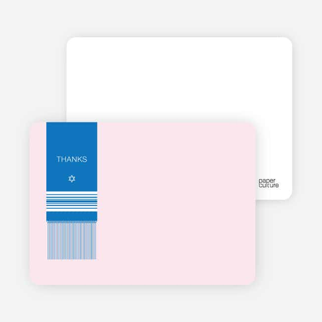 Note Cards: 'Tallit Prayer Shawl' cards. - Hot Pink