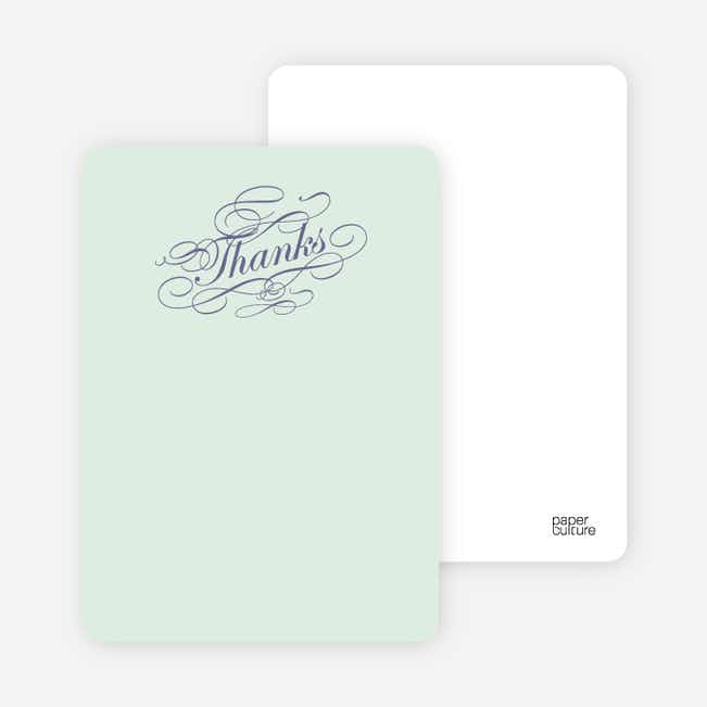 Notecards for the 'Celebrate: Bridal Shower' cards. - Pale Mint