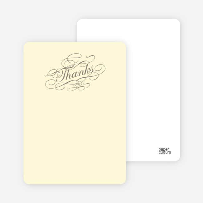 Notecards for the 'Celebrate: Bridal Shower' cards. - Ecru