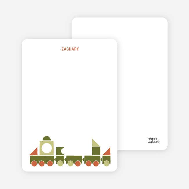 Notecards for the 'Choo Choo Train Arrival' cards. - Burgundy
