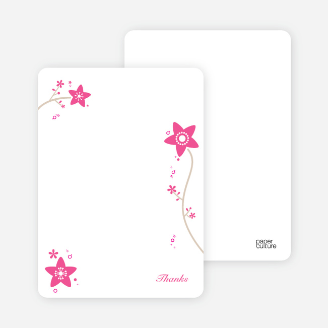 Notecards for the Floral Baptism Invitation cards Paper Culture