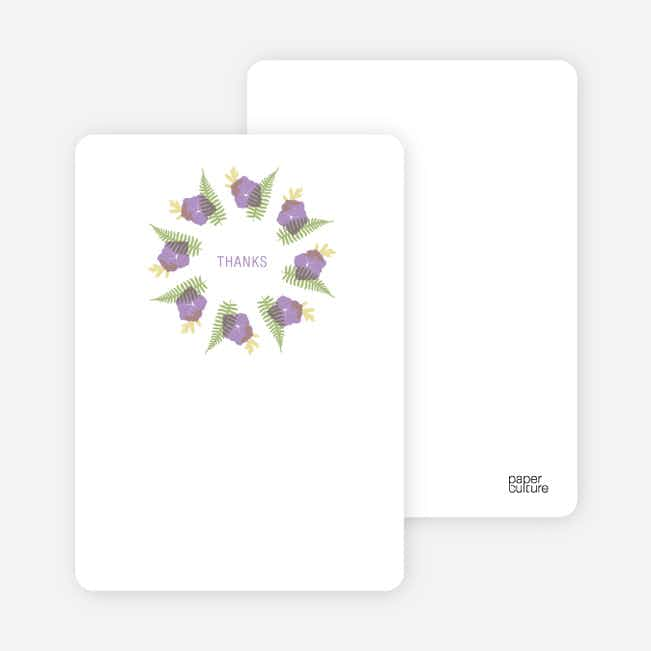 Notecards for the 'Flower Wreath Bridal Shower' cards. - Amethyst