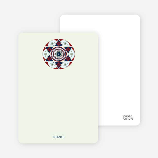 Notecards for the 'Ornate Star of David' cards. - Honeydew Green