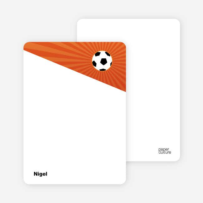 Notecards for the 'Soccer Kick' cards. - Orangsicle