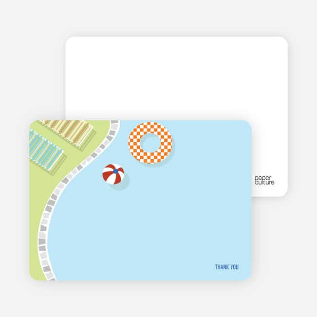 Notecards for the 'Splish Splash Pool Party' cards. - Baby Blue