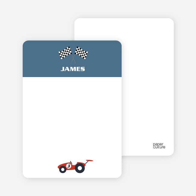 Notecards for the 'Start Your Engines' cards. - Steel Blue