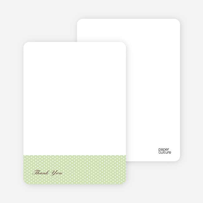 Notecards for the 'The Belly Bump' cards. - Pistachio