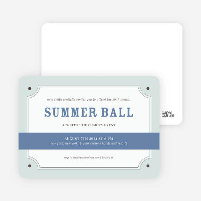 Party Invitations for that Classic Event - Cadet Blue