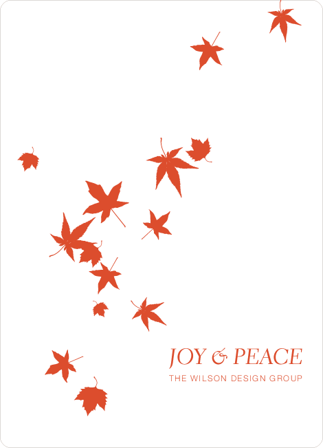 Falling Leaves Holiday Cards - Orange Spice