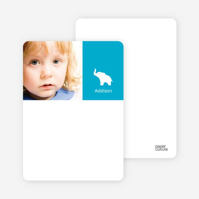 Personal Stationery for Ernie the Elephant's Modern 2nd Birthday Invitations - Royal Blue