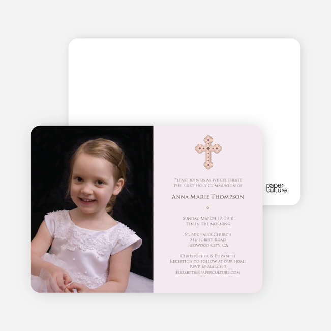 Photo Card First Holy Communion Invitations Paper Culture