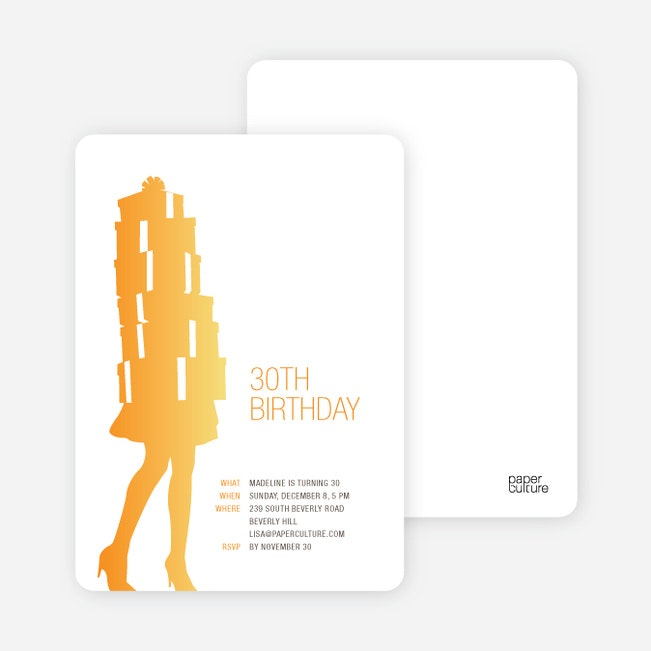 Shopaholic Grown Up Birthday Invitations Paper Culture