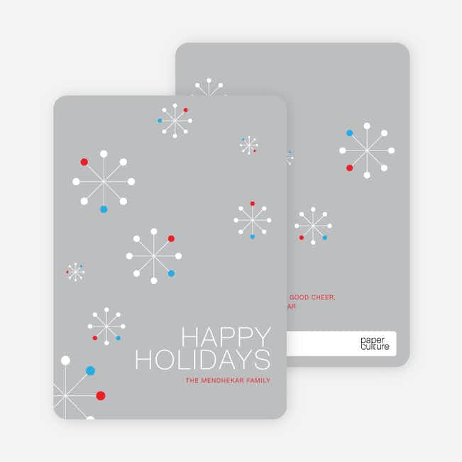 Snowflake Themed Holiday Cards - Dune