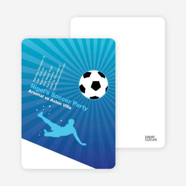 soccer party invitation paper culture