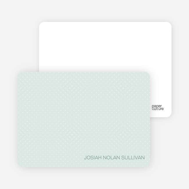 Stationery: 'Color Stripe: Boy' cards. - Light Green