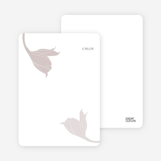 Stationery: 'Floral Elegance' cards. - Ash