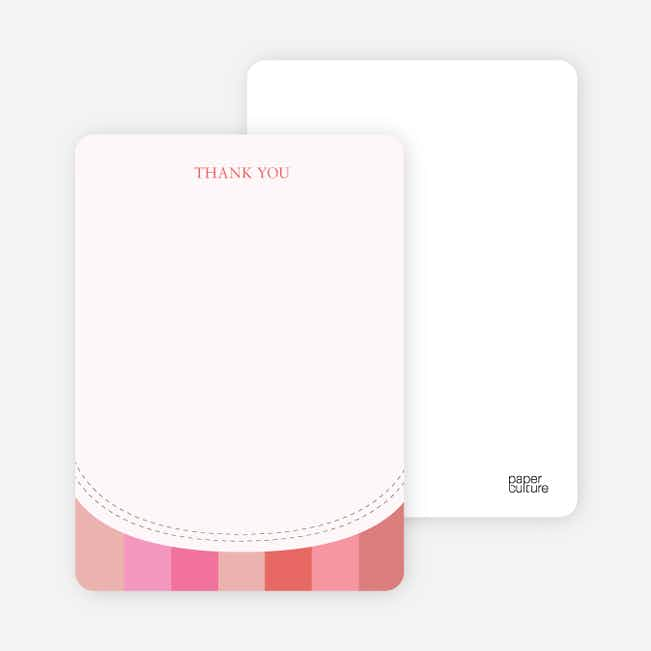 Stationery: 'Modern Bib' cards. - Hot Pink