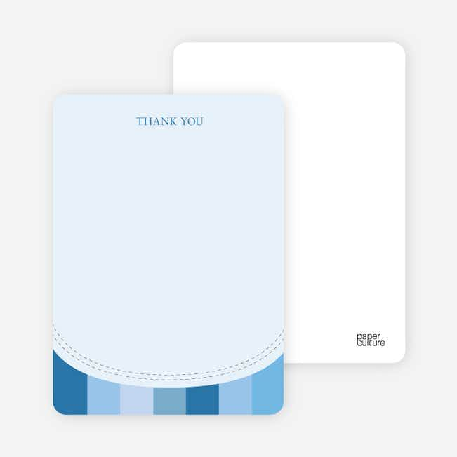 Stationery: 'Modern Bib' cards. - Cobalt Blue