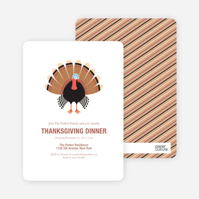 thanksgiving dinner party invitations paper culture