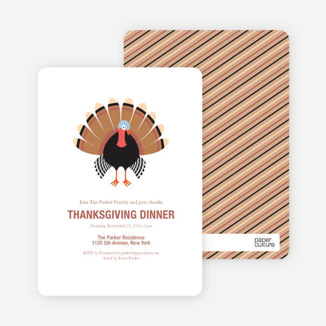 Thanksgiving Dinner Party Invitations - White