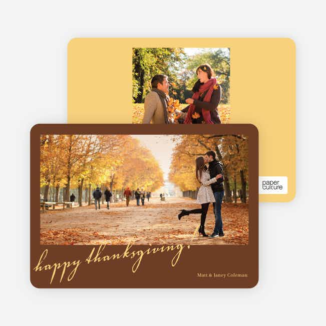 Thanksgiving Foliage Thanksgiving Invitations - Chocolate