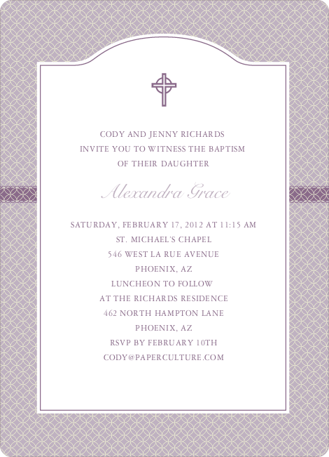 Truly Traditional Baptism Invitation Paper Culture